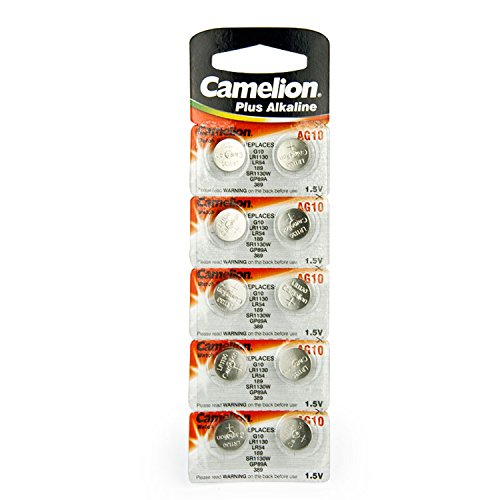 Camelion AG10 Button Cell Batteries, Alkaline Button Battery