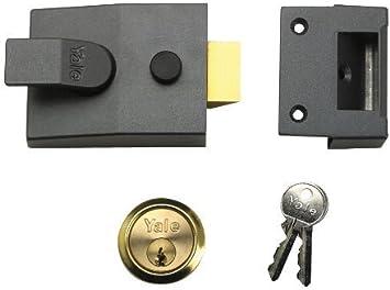 Yale Locks P89 Deadlock Nightlatch DMG Brass Cylinder 60 mm Backset Visi Pack by Yale: Amazon.es: Bricolaje y herramientas