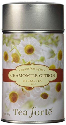Tea Forté CHAMOMILE CITRON Loose Leaf Organic Herbal Tea, 3.5 Ounce Tea Tin