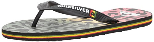 Quiksilver Men's Molokai Random Sandal, Black/red/Green, 13