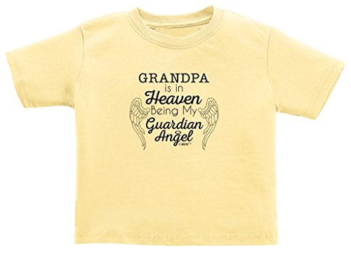 Baby Registry Gifts Grandpa in Heaven Being Guardian Angel Toddler T-Shirt 2T Banana