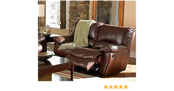 Fine Clifford Brown Leather Double Reclining Love Seat By Coaster Warm Brown Leather Match Gmtry Best Dining Table And Chair Ideas Images Gmtryco
