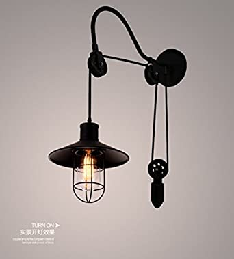 BOOTU lámpara LED y luces de pared Luz de pared antiguos loft nave industrial restaurante y ...