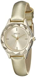 Breda Women's 2435D Analog Display Quartz Gold-ToneWatch