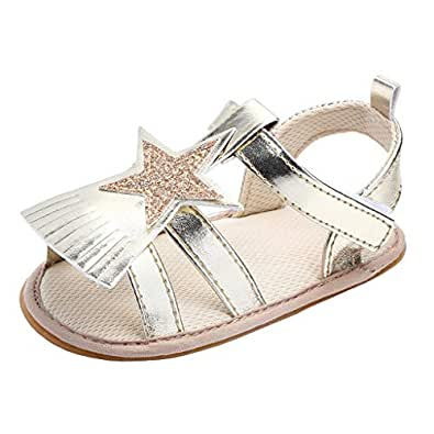 Annnowl Baby Girls Sandals Toddler Shoes with Tassels Gold Size: 6-12 Months Infant
