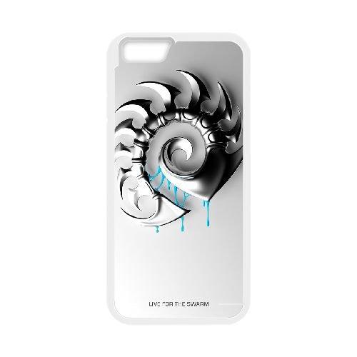 Starcraft Ii coque iPhone 6 4.7 Inch cellulaire cas coque de téléphone cas blanche couverture de téléphone portable EEECBCAAN01015