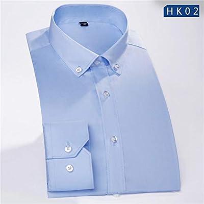CSDM Camisa de Hombre Hombres Manga Larga Non-Iron Camisa de Trabajo de Negocios Camisa de Vestir Formal para Hombre: Amazon.es: Hogar