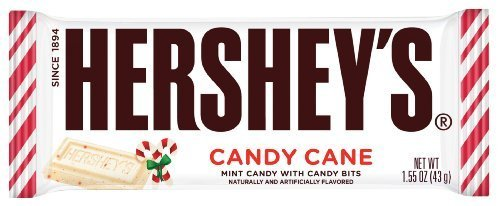 Hershey's Candy Cane Mint Candy with Candy Bits Candy Bar, 1.55-Ounce Bar (Pa... for $<!--$19.90-->