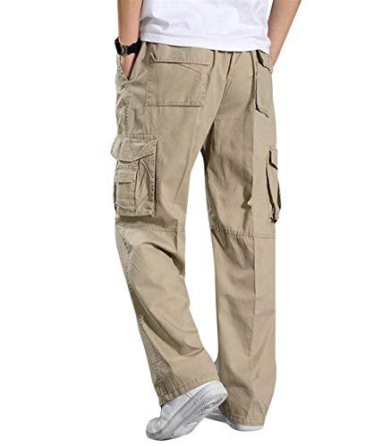 Ragazzo Pantaloni In Kahki Qk Uomo lannister 4 Oversize Cotone Lavoro Cargo Da Colori 4w05qFx
