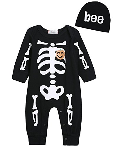 Singcoco Halloween Baby Boys Girls Skull Costume Romper