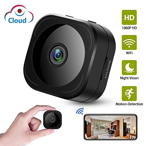 (Cloud Storage Camera, HD 1080P Mini Spy Hidden Camera, Wireless Security Indoor Nanny Surveillance Cam with Motion Detection Night Vision Compatible with iPhone/Android Phone/iPad)