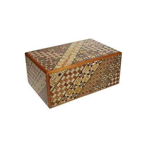 Yosegi Japanese Puzzle Box 5 sun - 27 steps -