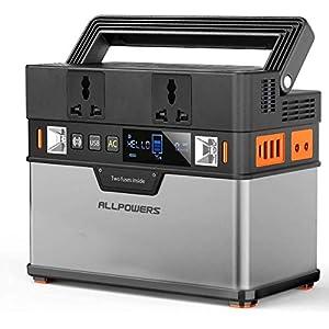ALLPOWERS Tragbarer Powerstation 288Wh / 78000mAh Mobile Stromversorgung Generatoren 300W Batterie Mobiler Stromspeicher…