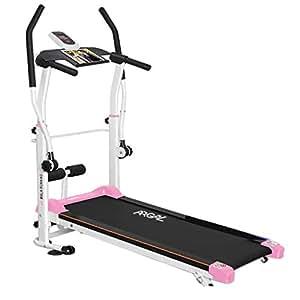 Cintas de correr Plegable Múltiples Funciones Hogar Pista De Esquí Pérdida De Peso Rueda De Ardilla Equipo De La Aptitud (Color : Pink, Size : 120 * 45 * 130cm)