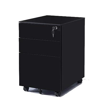 Archivador Gabinete de archivo móvil de 3 cajones Mueble de ...