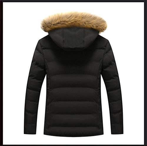 Inverno Giacche Cappotto Caldo E Moda Black Cotone In Uomo Felpato Wf7qFZ8w