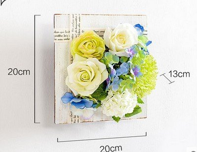 JY$ZB European creative simulation plant wall American restaurant shop coffee shop floral flower, hui blue trumpet
