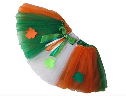 Southern Wrag Company LITTLE GIRLS St Patricks Day SHAMROCK Tutu 6M to 6X (INFANT: 8in Long) (Dance Costumes At Kellys Dance Company)