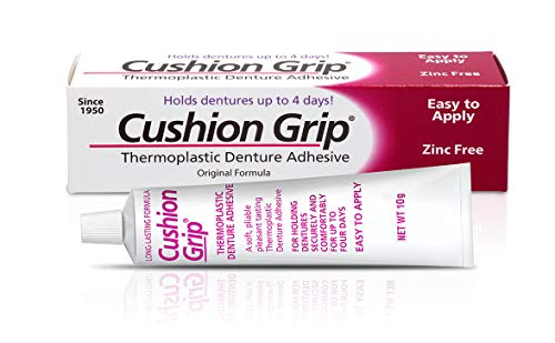 Cushion Grip 10 Gram Trial Tube - a Soft Pliable Thermoplastic for Refitting and Tightening Dentures