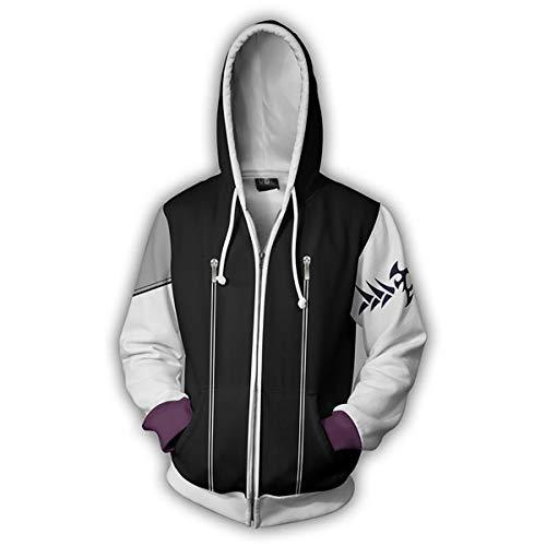 In Cappuccio Cerniera c J Cosplay Hooded Unisex Costume 3d amp;tt Con Felpa W Cardigan s BgqI8FU