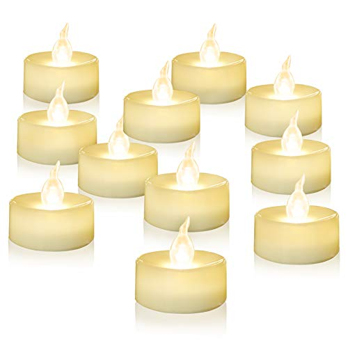 Homemory 100PCS Battery Operated Tealights Warm White LED Flameless Flickering Tea Lights Bulk by Homemory (Image #7)