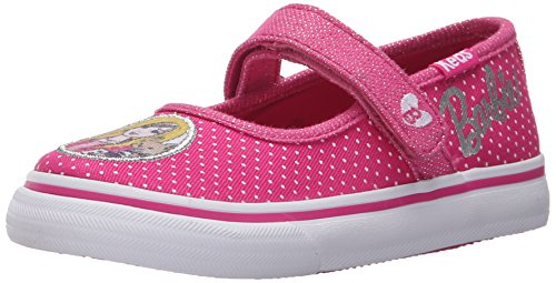 Keds Barbie Double Up MJ Mary Jane (Toddler/Little Kid), Pink/White Dot, 8 M US (Keds Canvas Mary Janes)