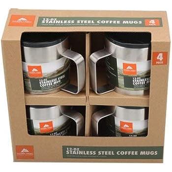 Amazon Com Ozark Trail 12 Oz Stainless Steel Coffee Mugs