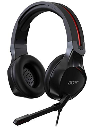 Acer Nitro Wired Gaming Headset (Over-The-Head/Adjustable Headband/Noise Cancellation/Omni-Directional Mic/Black)