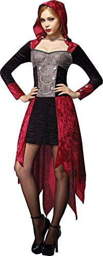 Adult Halloween Fancy Dress Party Sexy Demon Gothic Maiden Womens Hooded Costume (Sexy Demon Costume)