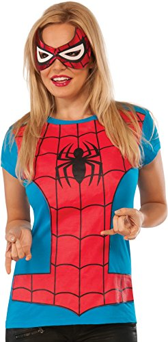 Rubie's Marvel Women's Universe Spider-Girl Classic T Shirt, Multi, Large ()