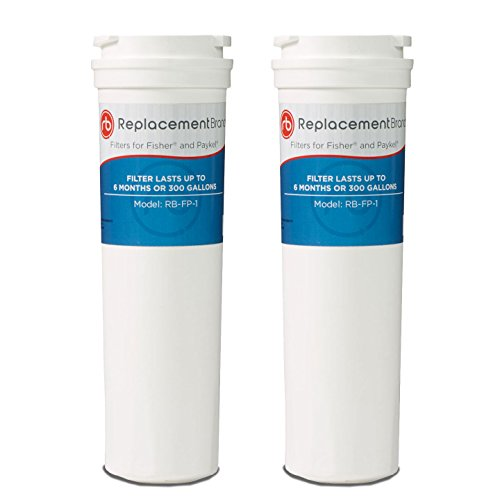 ReplacementBrand FP-1-2PK Fisher and Paykel 836848 Comparable Refrigerator Water Filter (Pack of 2)