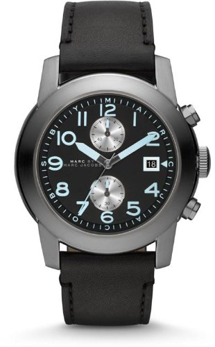 Marc by Marc Jacobs Men's Larry Band Watch, Gunmetal/Black, One Size