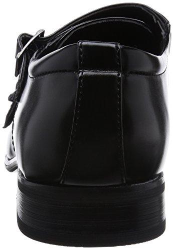 Mm / One Heren Dubbele Monkstrap Schoenen Oxford Dress Schoenen Traagschuim Binnenzool Cap Toe Schoenen Zwart Donker Bruin Zwart