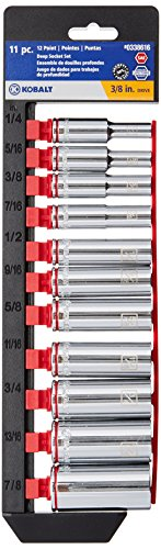 Kobalt 11-Piece Standard 3/8u0022 Drive 12-Point