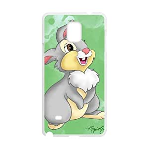 Personality customization TPU Case with Disney Bambi Character Thumper Samsung Galaxy Note 4 Cell Phone Case White