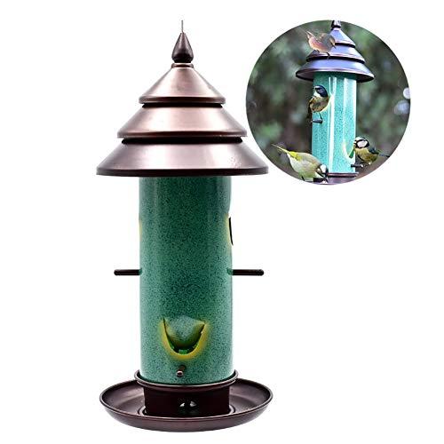 DJLOOKK Comidas para pájaros Balcón al Aire Libre Comedero para pájaros Silvestres Aves para pájaros Suministros para pájaros Cortador automático Comedor para pájaros Visualización práctica