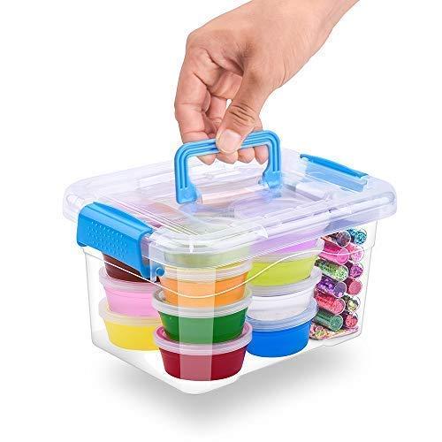 MOOHAM DIY Slime Kit Supplies - Clear Crystal Slime Making Kit for Girls, Floam Slime for Kids, Slime Foam Beads, Glitter , Fruit Slices and Fishbowl Beads Included by M MOOHAM (Image #6)