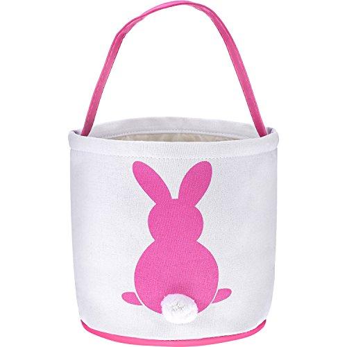 Frienda Easter Gift Bag Bunny Basket Bag Rabbit Handbag for Easter Hunt Party Favor Birthday Baby Shower DIY - Pattern Easter Basket
