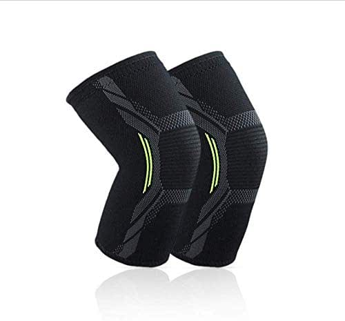 ZXWCYJ 2-Pack, Knee Sleeve Support Compression Brace, for Sports, Running, Jogging, Arthritis, Joint Pain Relief,S