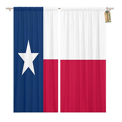 Golee Window Curtain Star Of Texas Flag Dallas Cattle Houston Lone Agriculture H