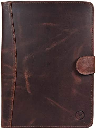 Leather Portfolio Planner 2018 2019 Aaron