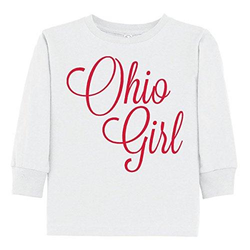 Ohio Ribbed Jersey - inktastic - Ohio Girl Toddler Long Sleeve T-Shirt 2T White