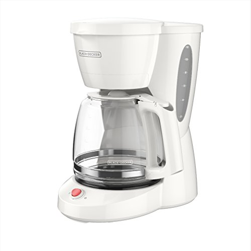BLACK+DECKER 12-Cup Switch Coffee Maker, Duralife Glass Carafe, White, CM0940WD