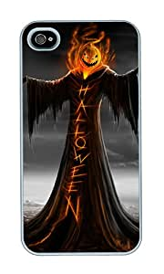 iPhone 4 Case,iPhone 4S Case,VUTTOO iPhone 4 Cover With Photo: Halloween For Apple iPhone 4/4S - PC White Hard Case