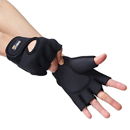 Fingerless Hand Protector Safe Breathable Lightweight Comfortable Adjustable Durable Cool for Riding Mountain Bike Climbing Hiking
