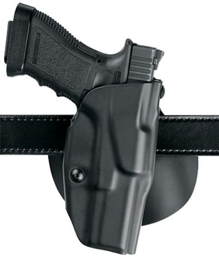 Glock 27 Paddle Holster (Safariland 6378 ALS, Paddle & Belt Slide Holster, Glock 26, 27, Plain Black, Right Hand)