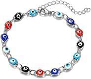 choice of all Evil Eye Bracelet for Women,14K Gold Plated Turkish Blue Eye Chain Bracelets for Girls