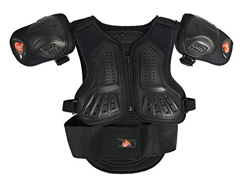 Toach Kids Motorcycle Armor Suit Dirt Bike Chest Spine Protector Back Shoulder Arm Elbow Knee Protector Motocross Racing Skiing Skating Body Armor Vest Sports Safety Pads 3 Colors