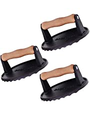 Radicaln Burger Press Iron Grill Press with Wooden Handle - Heavy Duty Ideal Multi Functional Bacon Press - Ideal Meat Press, Dough Press and Patty Maker for Home Kitchen