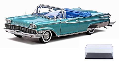 Mercury Park Lane Convertible - Diecast Car & Display Case Package - 1959 Mercury Park Lane Convertible, Turquoise - Sun Star 5151 - 1/18 Scale Diecast Model Toy Car w/Display Case